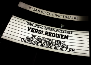 San Diego Opera presents the Verdi Requiem